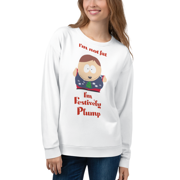 South Park Cartman Festively Plump Adult All-Over Print Sweatshirt