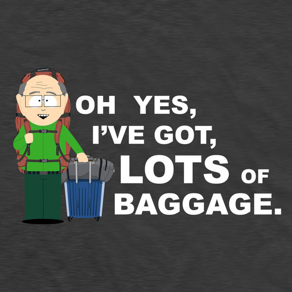 South Park Mr. Garrison Baggage Adult Short Sleeve T-Shirt