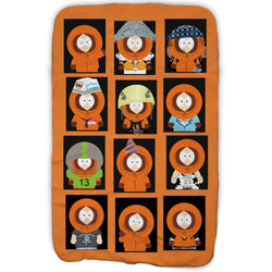 South Park Faces of Kenny Fleece Blanket