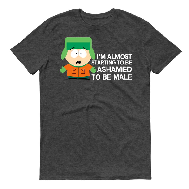 South Park Kyle Ashamed To Be Male Adult Short Sleeve T-Shirt
