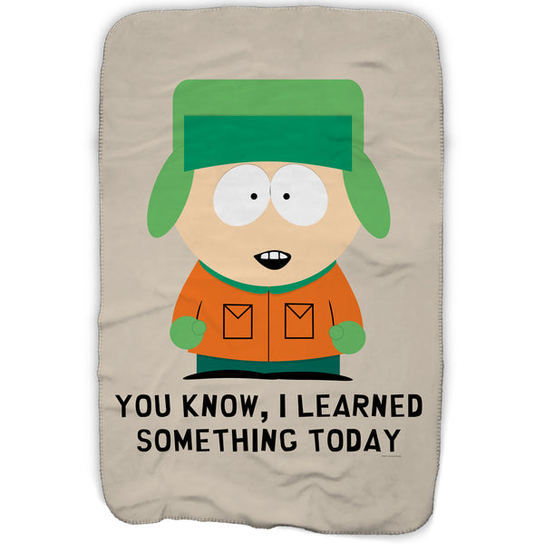 South Park Kyle I Learned Something Today Fleece Blanket