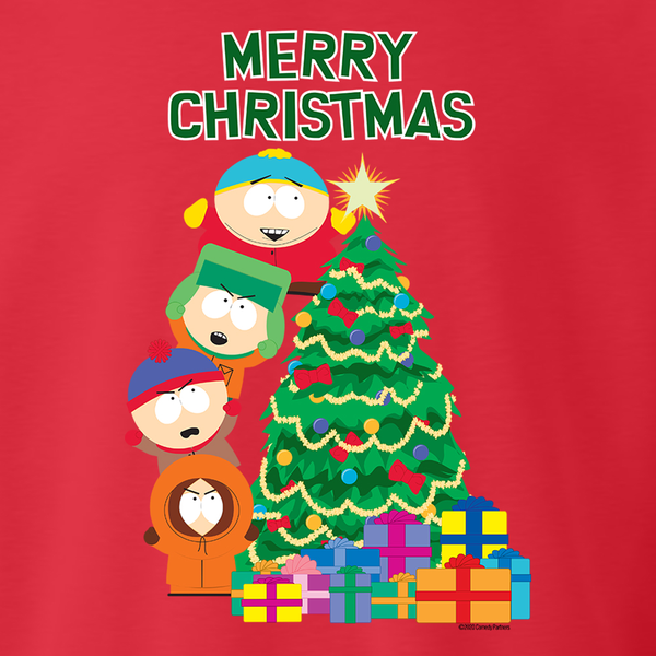 South Park Merry Christmas Holiday Fleece Crewneck Sweatshirt