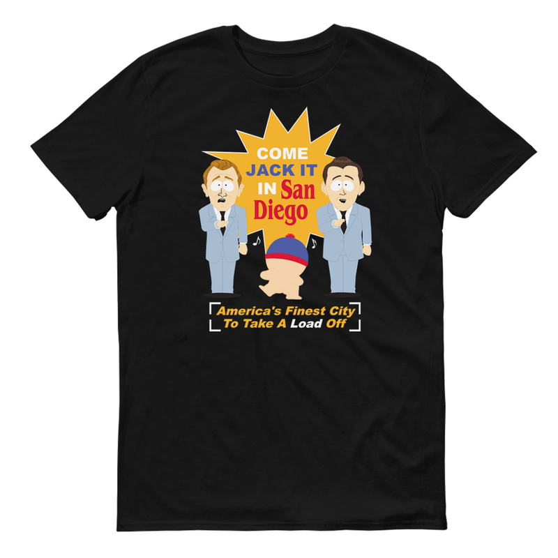 South Park Jack It In San Diego Adult Short Sleeve T-Shirt