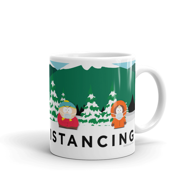 South Park Social Distancing White Mug