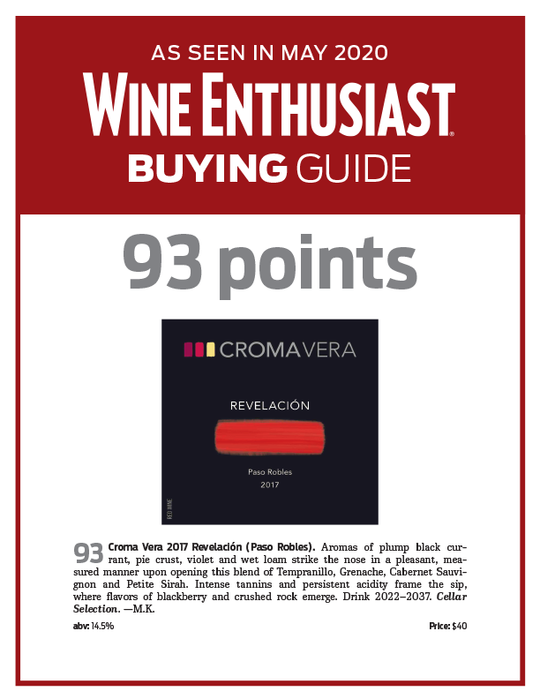 Score! Our 2017 Revelación Receives 93 Point Rating