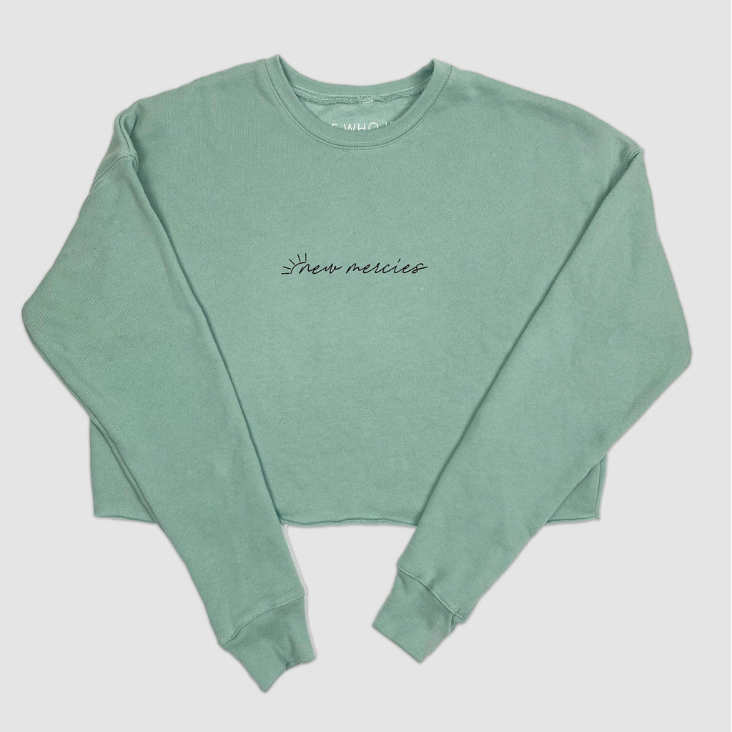 New Mercies Cropped Sweatshirt