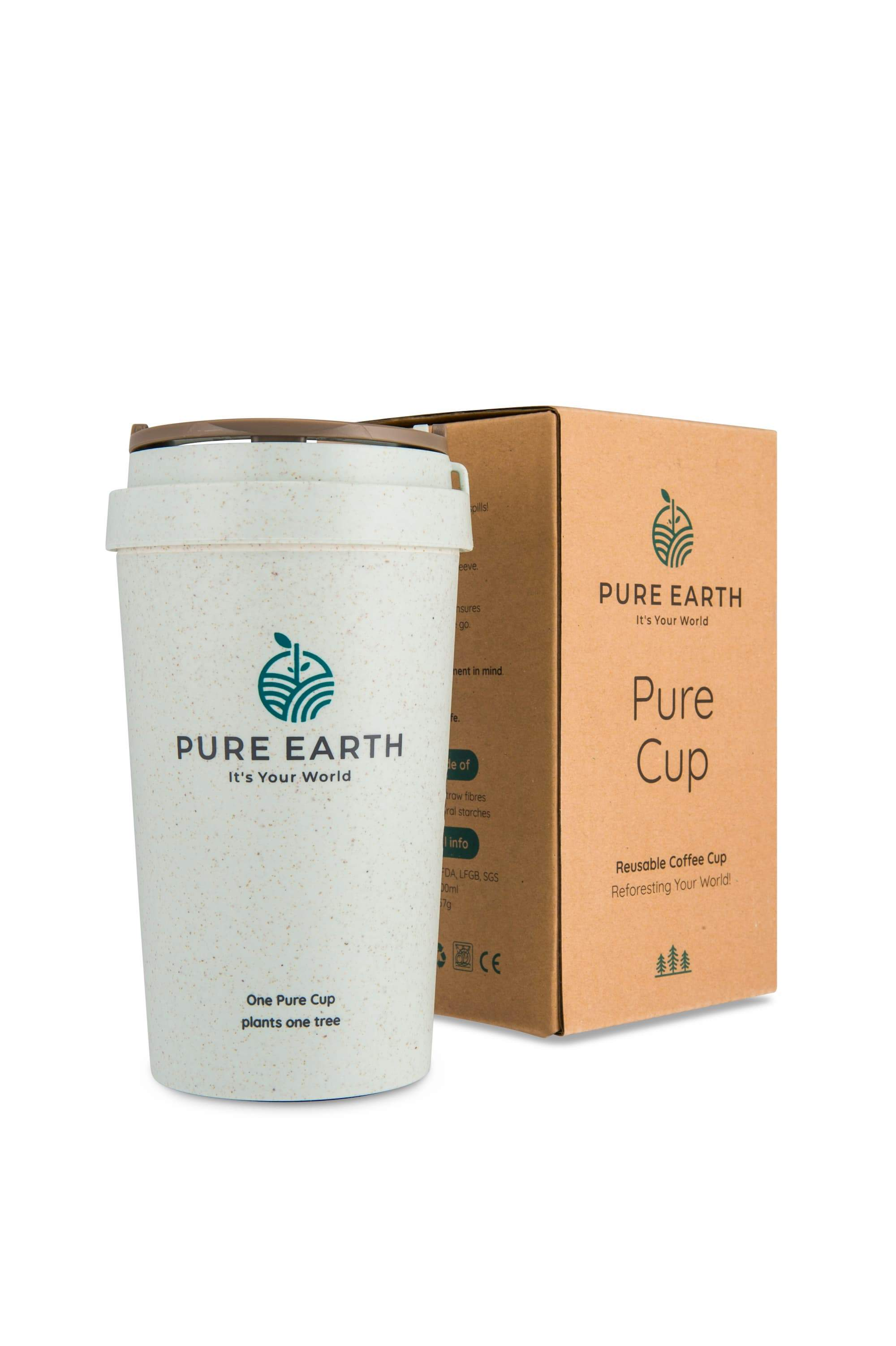 Pure Cup | Reusable Coffee Cup | Azure White