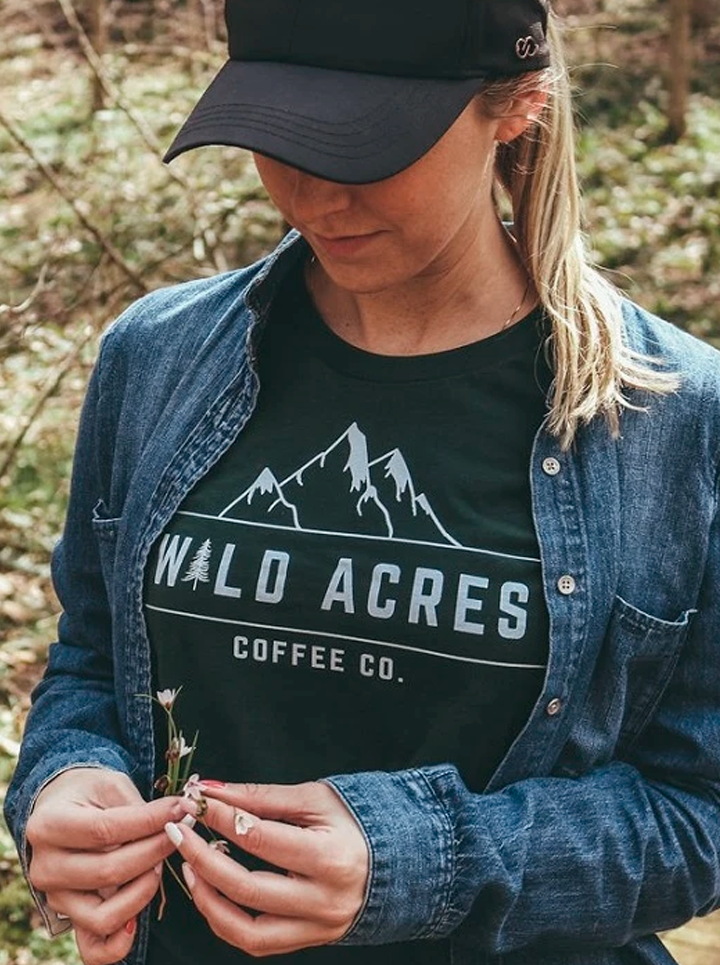 The Snow Caps Tee-Wild Acres Coffee Co.