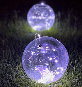 Hanging Round Glass Small 5 pc's Package with lights