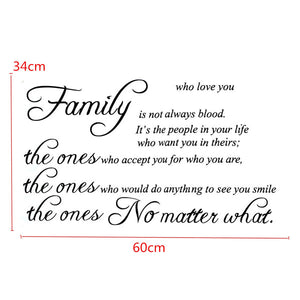 Family Quote Wall Sticker Removable Decal Mural DIY Living Room Art Home Decor