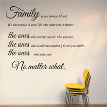 Load image into Gallery viewer, Family Quote Wall Sticker Removable Decal Mural DIY Living Room Art Home Decor