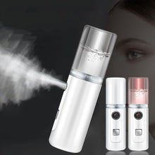 Load image into Gallery viewer, Face Stream Beauty Spray Hand-held Water Machine Moisturizing Nano Ionic Mist Face Humidifier Sauna Facial Pore Cleansing Tool
