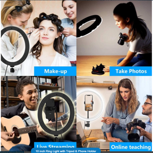 10 inch Ring Light with FREE eBOOK (10 Steps to Become a Social Media Influencer )