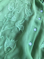Green Embroidered Blouse (Fit 16-18)