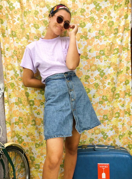 Denim Mini Skirt (Fit 8/10)