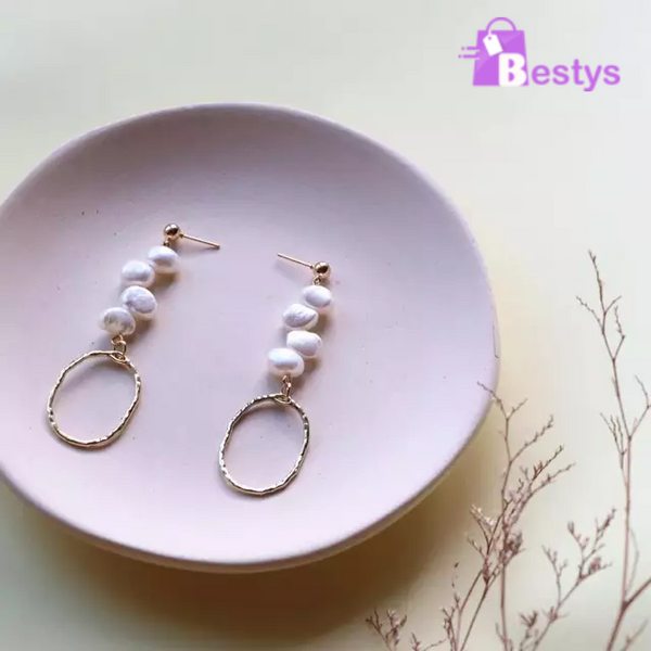 Natural Pearl Stud Earring