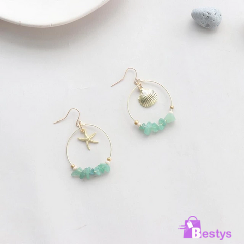Circle Shape Drop Earrings