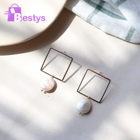 Geometric Square Drop Earrings