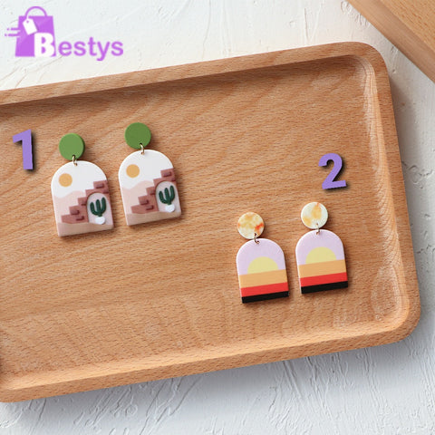 Colourful Acrylic Earrings