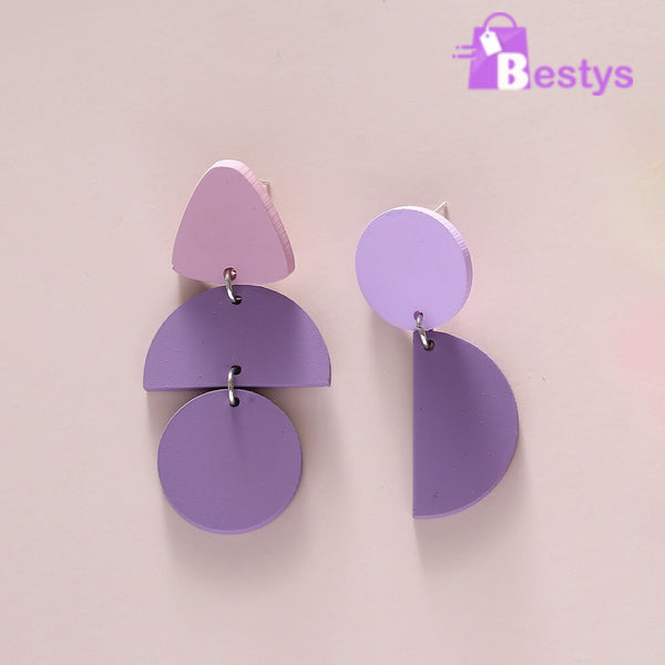 Korean Style Purple Earring