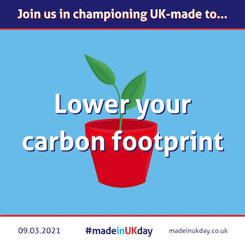 made in uk day lower your carbon footprint