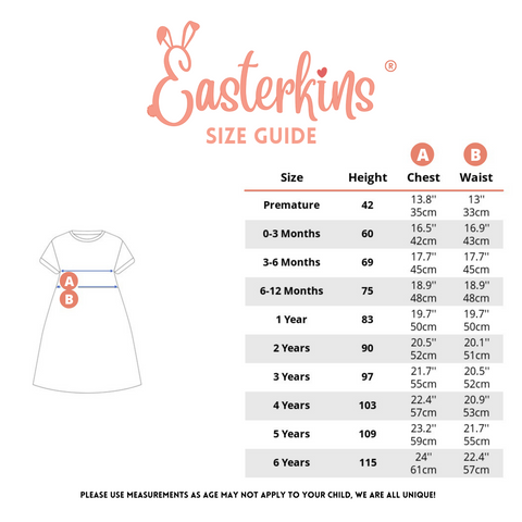 Dino Dress Size Guide