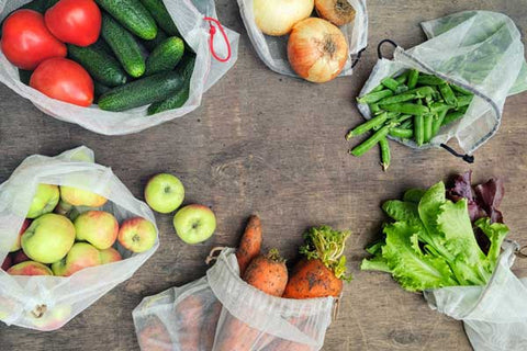 reusable fruit and vegetable bags - 5 easy ways to reduce your plastic waste