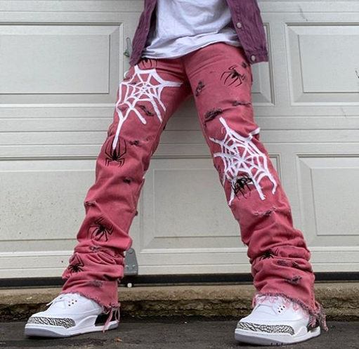 Spider web Jeans