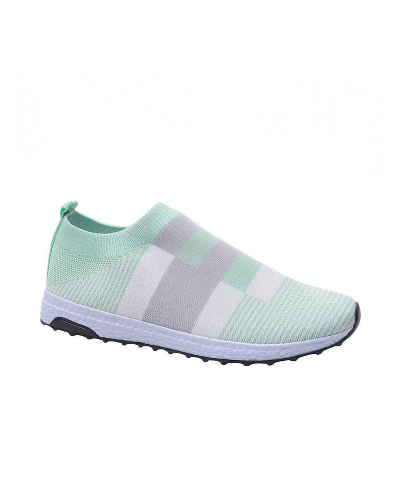 Colorblock Mesh Breathable Flat Sneakers