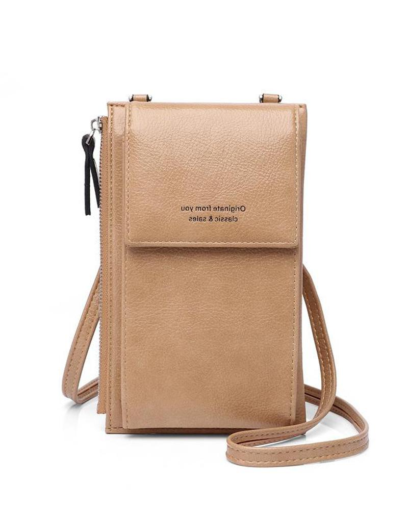 PU Side Zip Crossbody Bag