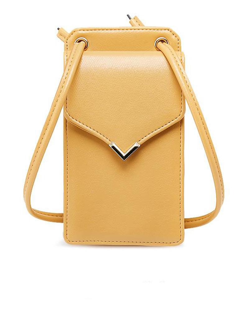 Leather Rectangle Shoulder Bag