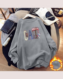 Multicolor Letter Printing Long Sleeve Sweatshirts