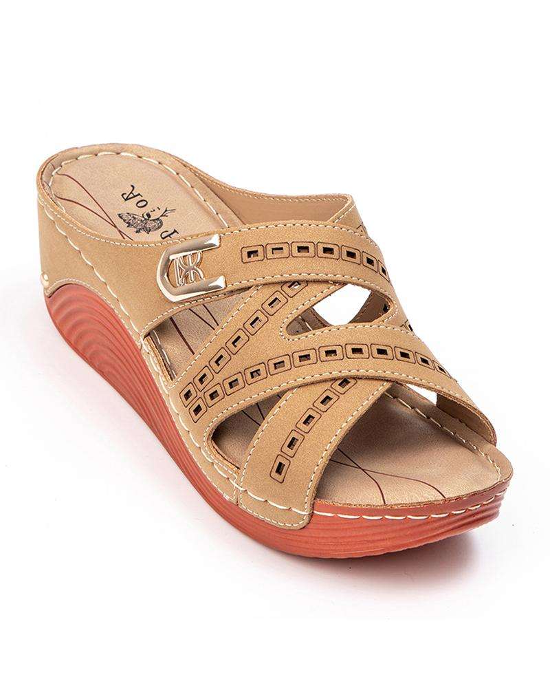Comfortable Open Toe Wedge Sandals