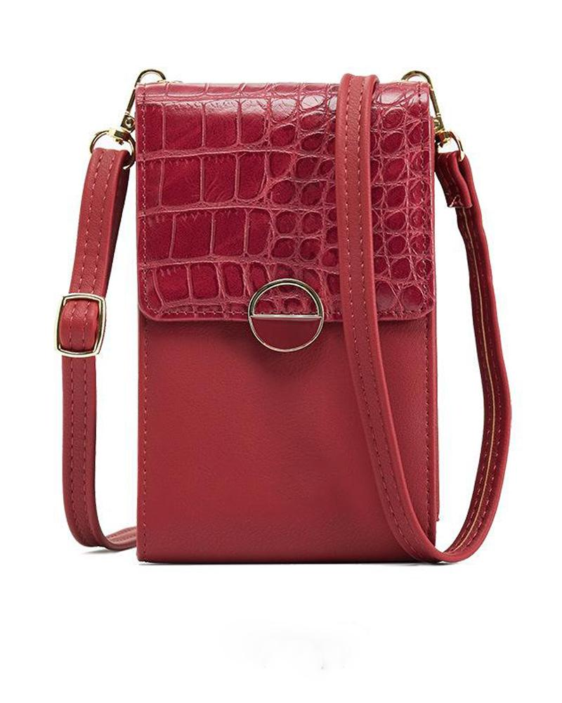 Lock Closure Crossbody Bag