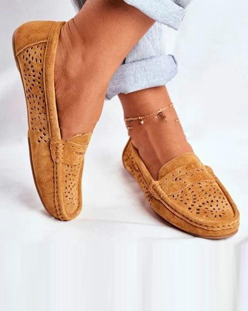 Casual Solid Breathable Flat Loafers