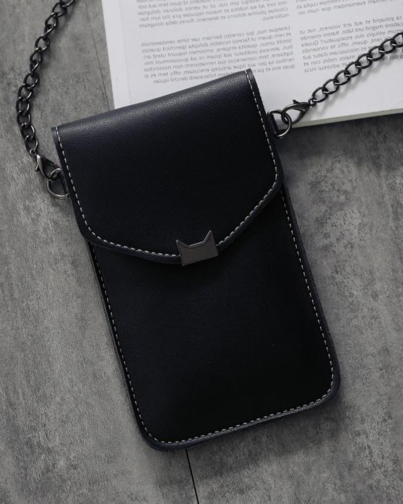 PU Touch Screen Crossbody Bag