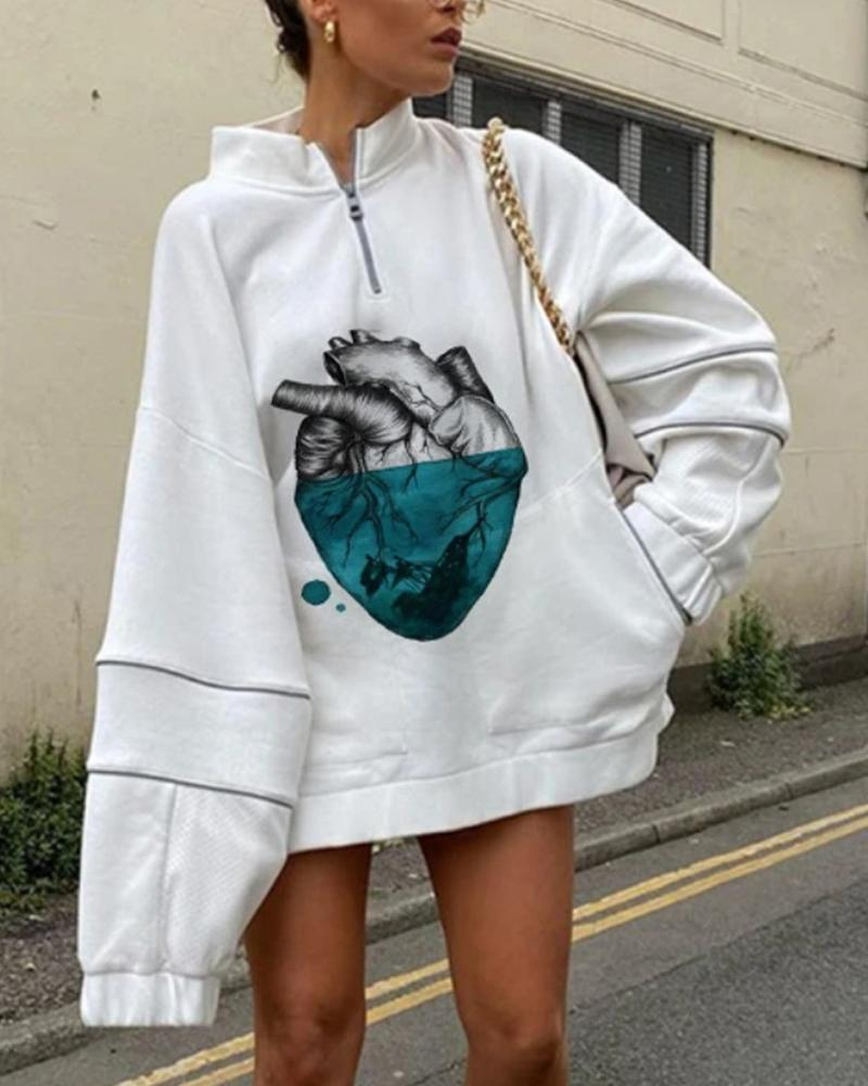 Cartoon Printing Long Sleeve Sweatshirt