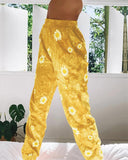 Embroidery Tie Dye Sports Pants
