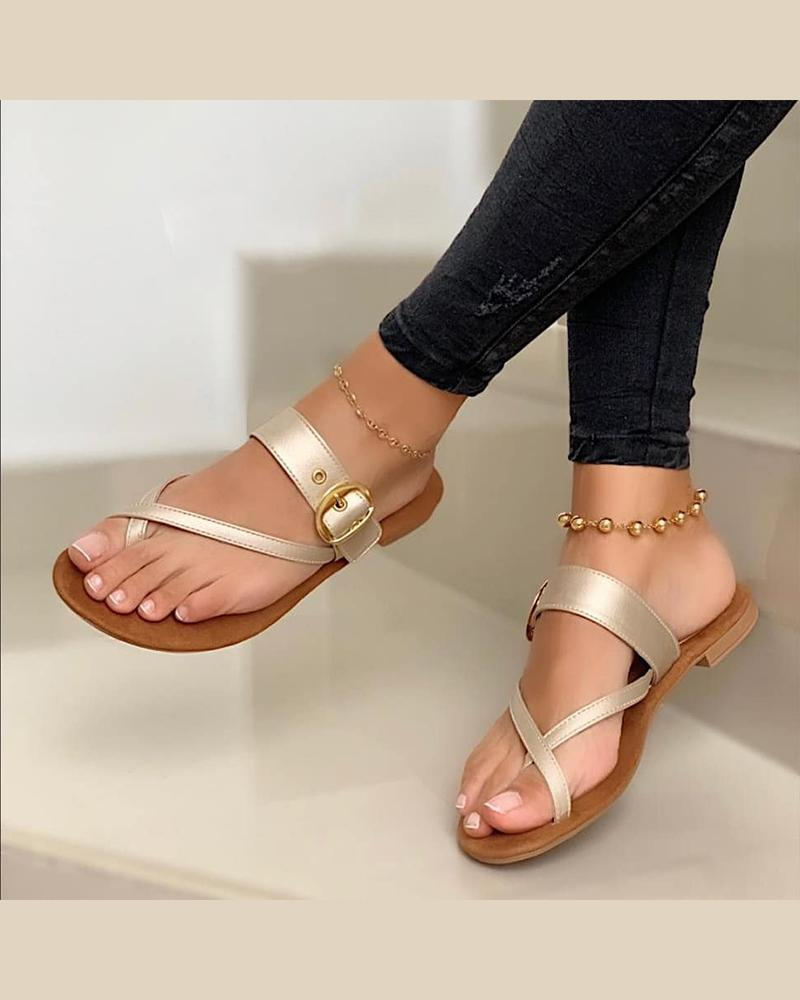 Crisscross Toe Strap Sandals