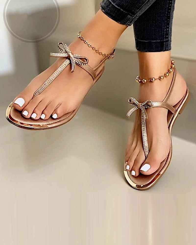 Bow Tie Slide Sandals