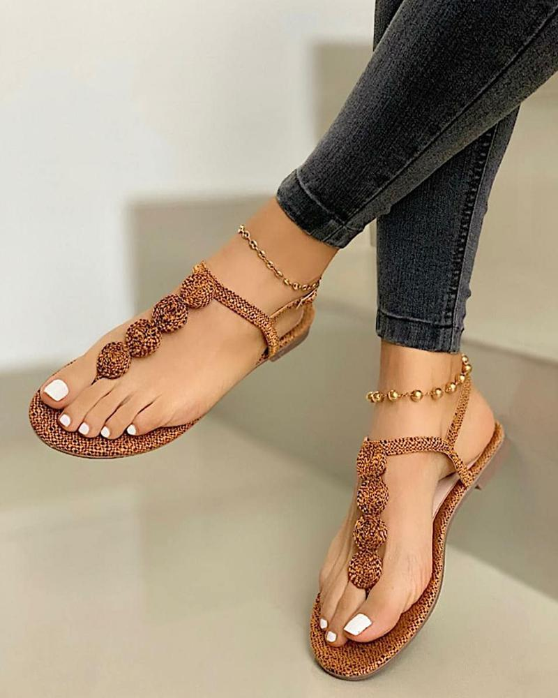 Open Toe Thong Sandals