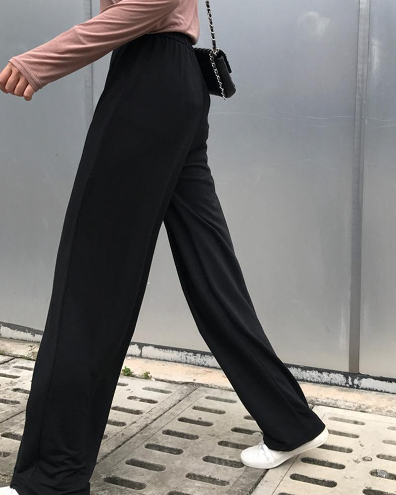 Solid Straight Fit Jogger Pants