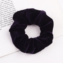 Load image into Gallery viewer, Velvet Scrunchie Women Girls Elastic Hair Rubber Bands Accessories Gum For Women Tie Hair Ring Rope Ponytail Holder Headdress