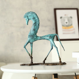 Composed Egyptian Horse Sculpture