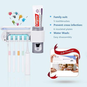 2-In-1 Ultraviolet Toothbrush Disinfector & Automatic Distributor