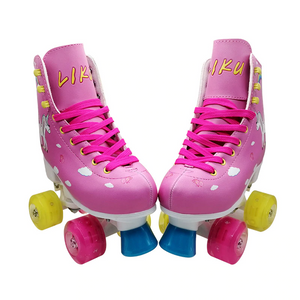 Kid's Light-Up Double Roller Skates