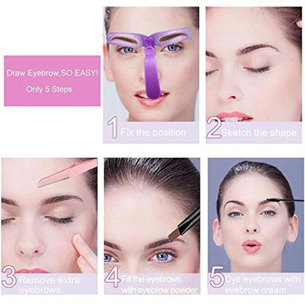Eyebrow Stencils Kit Grooming Card Eyebrow Makeup Tools