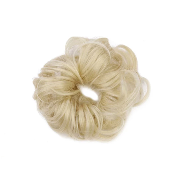 Messy Out-of-bed Rose Bun Scrunchie