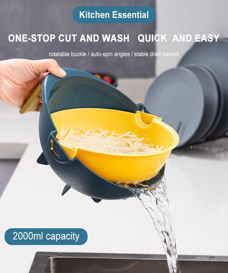 Multifunctional 9 in 1 Vegetable Cutter With Drain Basket