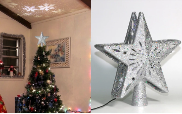 Projection Star Christmas Tree Topper